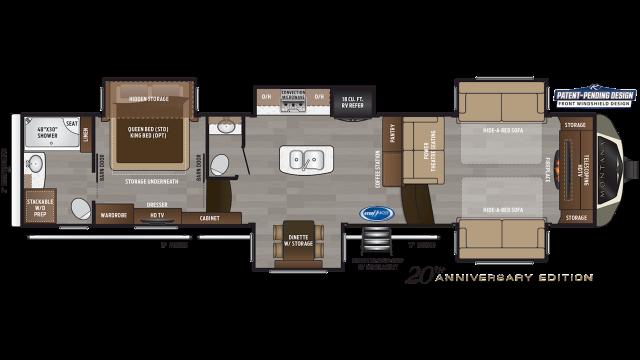 2020 Montana 3760FL Floor Plan