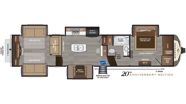 2020 Montana 3790RD Floor Plan
