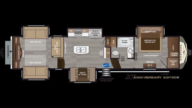 2020 Montana 3791RD Floor Plan