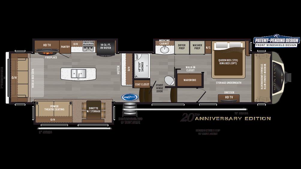 2020 Montana 3810MS Floor Plan Img