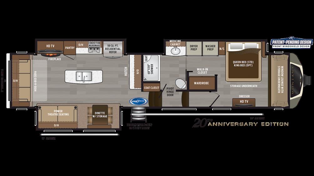 2020 Montana 3811MS Floor Plan Img