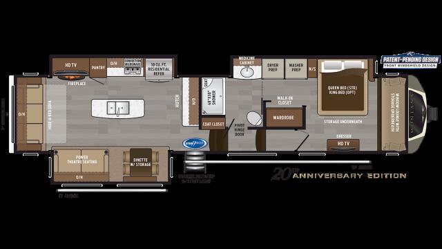 2020 Montana 3811MS Floor Plan