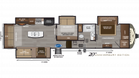 2020 Montana 3854BR Floor Plan
