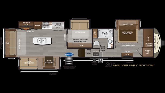 2020 Montana 3855BR Floor Plan