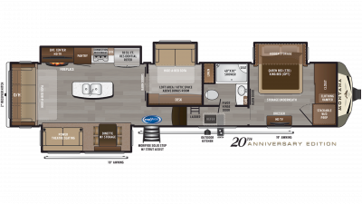 2020 Montana 3855BR Floor Plan Img