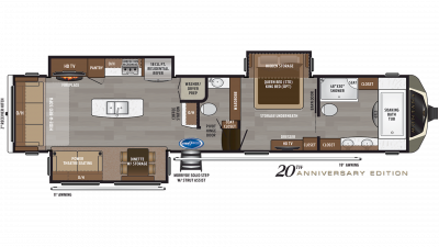 2020 Montana 3921FB Floor Plan Img