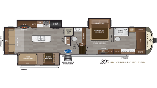 2020 Montana 3930FB Floor Plan