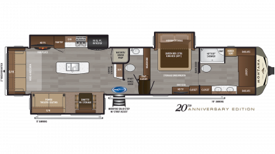 2020 Montana 3930FB Floor Plan Img