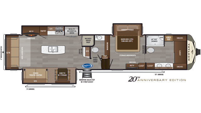 2020 Montana 3931FB Floor Plan