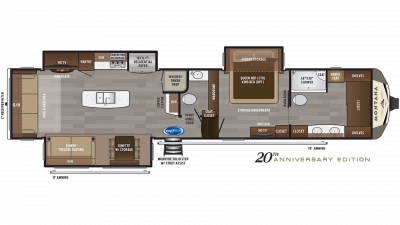 2020 Montana 3931FB Floor Plan Img