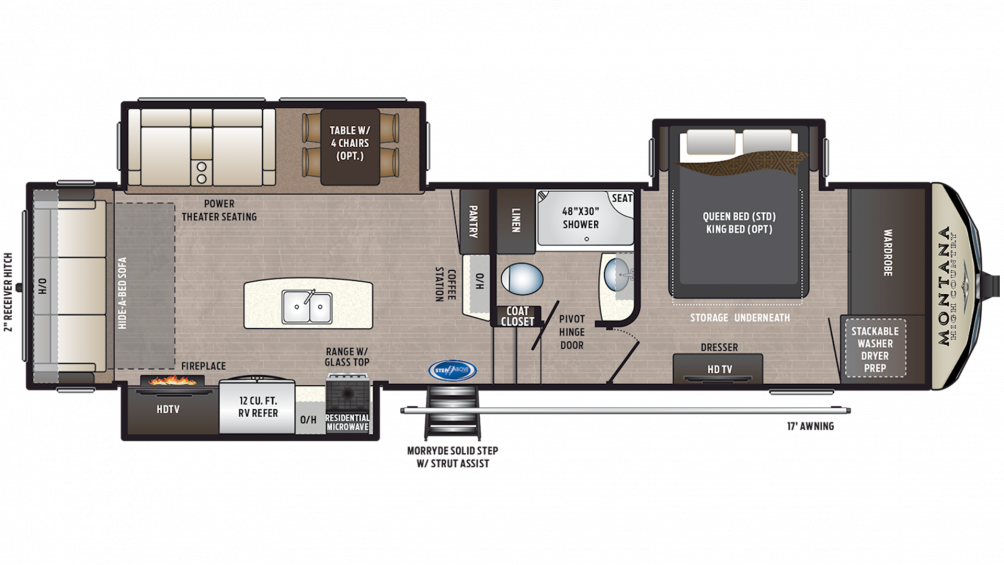 2020 Montana High Country 305RL Floor Plan Img