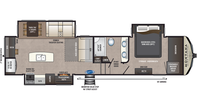 2020 Montana High Country 320MK Floor Plan