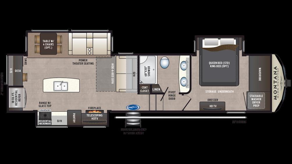 2020 Montana High Country 321MK Floor Plan Img