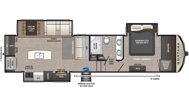 2020 Montana High Country 321MK Floor Plan