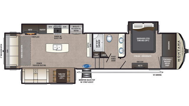 2020 Montana High Country 331RL Floor Plan