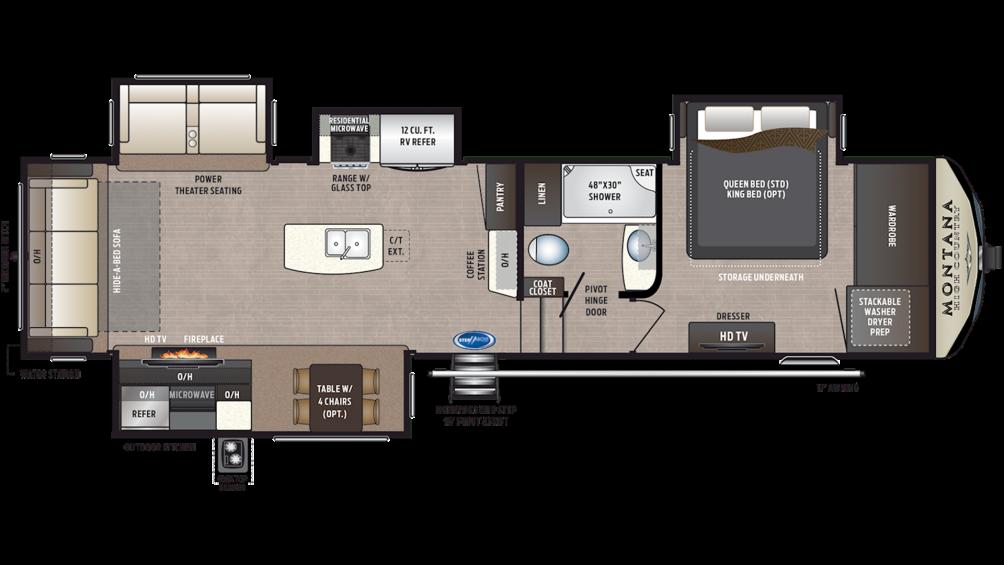 2020 Montana High Country 344RL Floor Plan Img