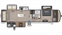 2020 Montana High Country 344RL Floor Plan