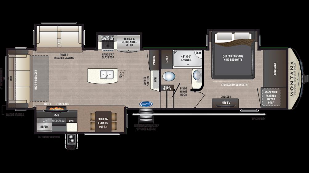 2020 Montana High Country 345RL Floor Plan Img