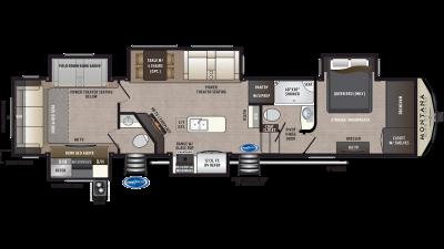 2020 Montana High Country 362RD Floor Plan Img