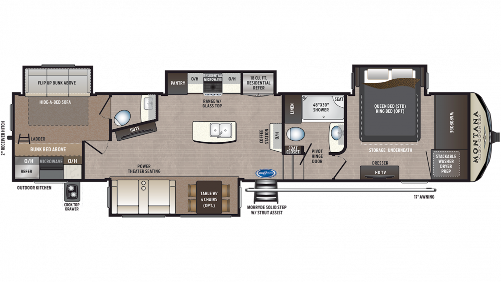 2020 Montana High Country 365BH Floor Plan Img