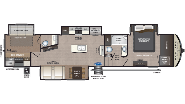 2020 Montana High Country 365BH Floor Plan