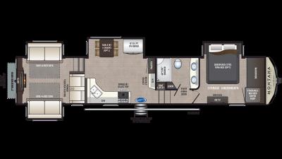 2020 Montana High Country 372RD Floor Plan Img