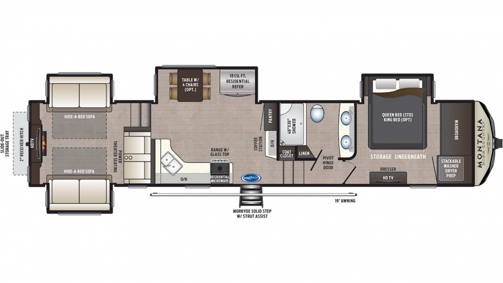 2020 Montana High Country 373RD Floor Plan Img