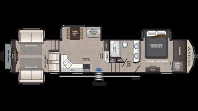2020 Montana High Country 373RD Floor Plan Img