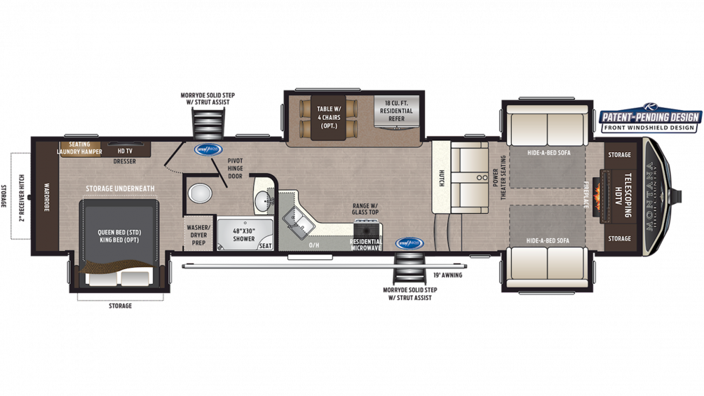 2020 Montana High Country 375FL Floor Plan Img