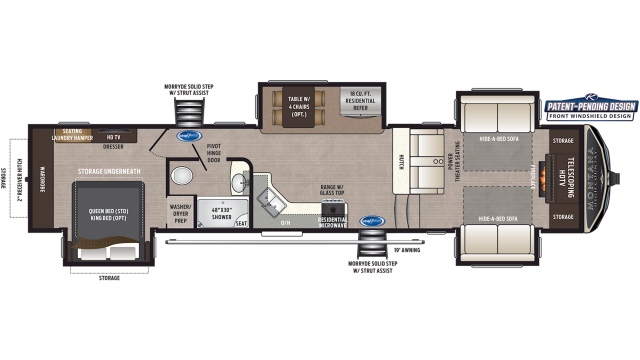 2020 Montana High Country 375FL Floor Plan
