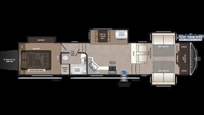 2020 Montana High Country 380TH Floor Plan Img
