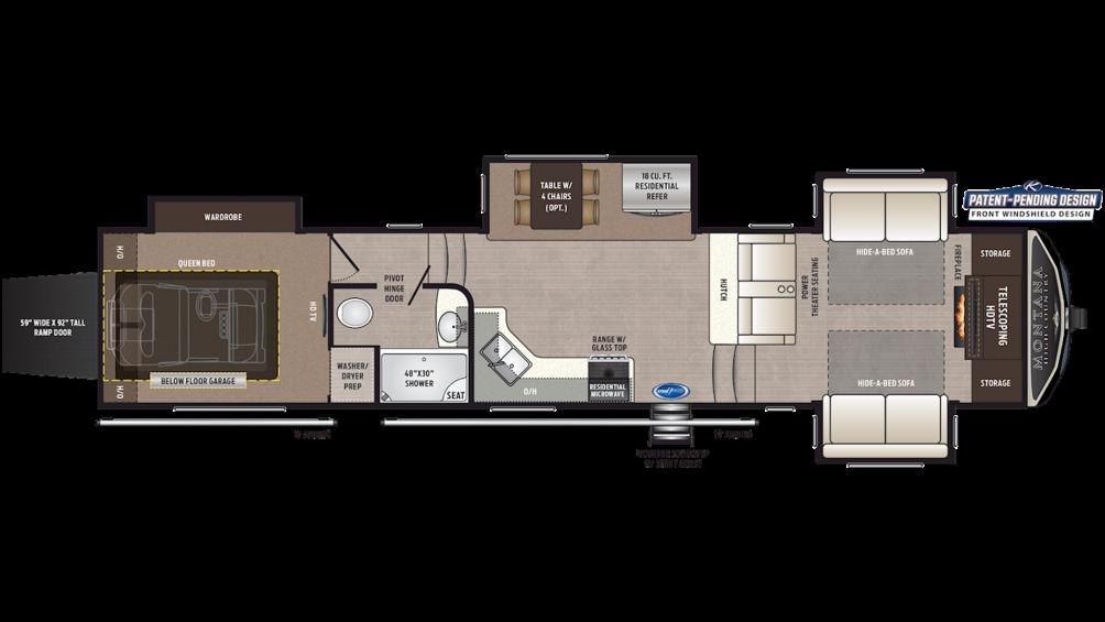 2020 Montana High Country 381TH Floor Plan Img
