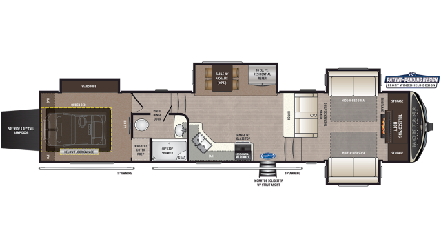 2020 Montana High Country 381TH Floor Plan