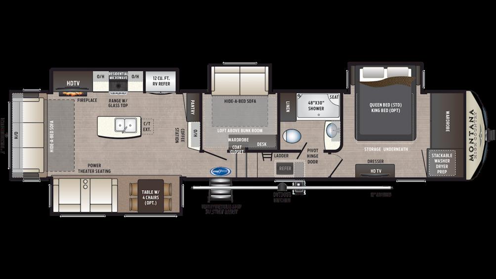 2020 Montana High Country 384BR Floor Plan Img