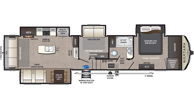 2020 Montana High Country 385BR Floor Plan