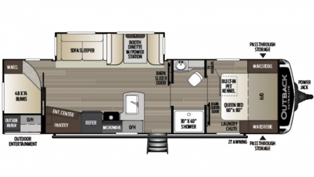 2020 Outback Ultra Lite 291UBH Floor Plan Img