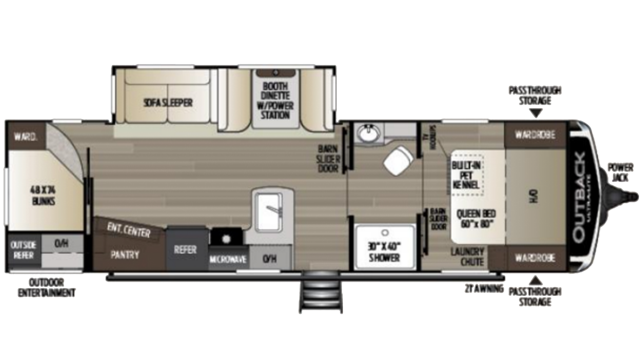 2020 Outback Ultra Lite 291UBH Floor Plan