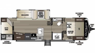 2020 Outback Ultra Lite 291UBH Floor Plan Img