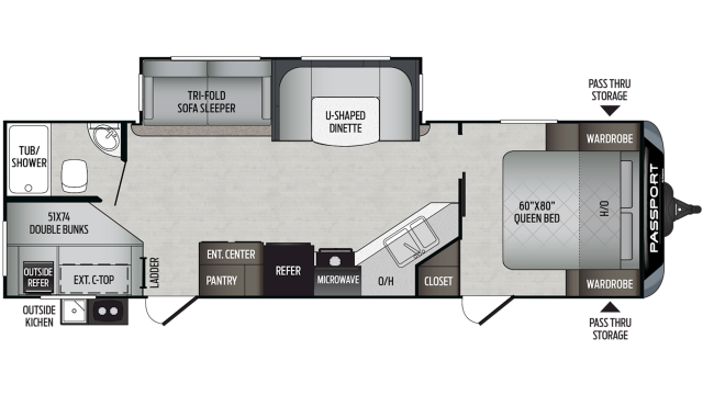 2020 Passport GT Series 2820BH Floor Plan