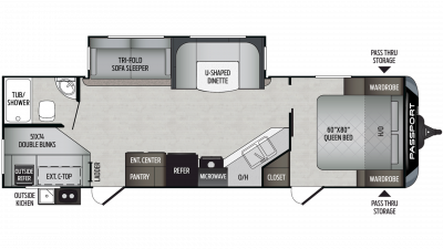 2020 Passport GT Series 2820BH Floor Plan Img