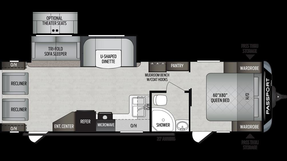 2020 Passport GT Series 2900RL Floor Plan Img