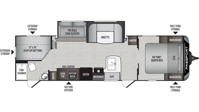 2020 Passport GT Series 2950BH Floor Plan