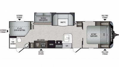 2020 Passport GT Series 2950BH Floor Plan Img
