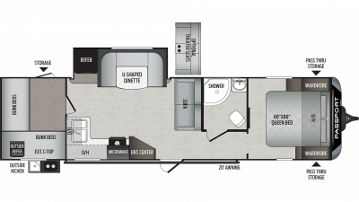 2020 Passport GT Series 3100QB Floor Plan Img