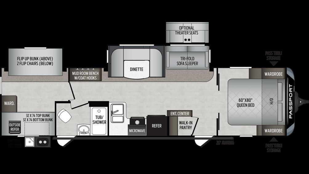 2020 Passport GT Series 3221BH Floor Plan Img