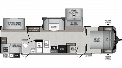 2020 Passport GT Series 3221BH Floor Plan Img