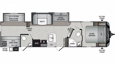 2020 Passport GT Series 3351BH Floor Plan Img