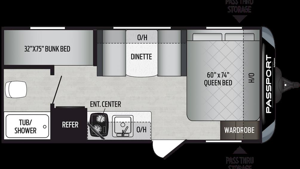 2020 Passport SL Series 175BH Floor Plan Img