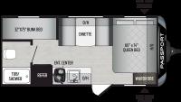 2020 Passport SL Series 175BH Floor Plan