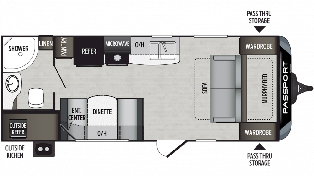 2020 Passport SL Series 197RB Floor Plan Img